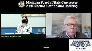 Live: Michigan Board of State Canvassers Certification Meeting