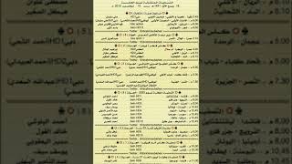 جدول مواعيد مباريات اليوم الجمعة 15_11_2019 والمعلقين ...