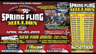 Spring Fling Million Dollar Bracket Race Las Vegas Wednesday