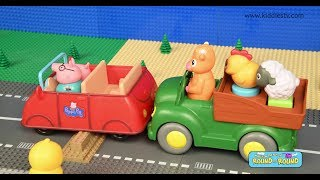 Wheels on the Bus Farmees 2 rhyme | Songs for kids | animals and cars for kids | round and round