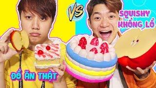 ĐỒ ĂN SQUISHY KHỔNG LỒ VS ĐỒ ĂN THẬT - GIANT SQUISHY FOOD vs REAL FOOD!!
