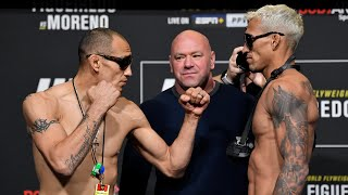 UFC 256: Weigh-in Faceoffs