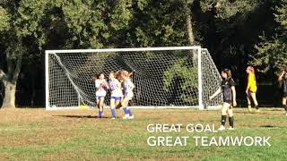 EDHSC Girls Arsenal Sarah Great Header Goal Alyssa Perfect Throw In Assist