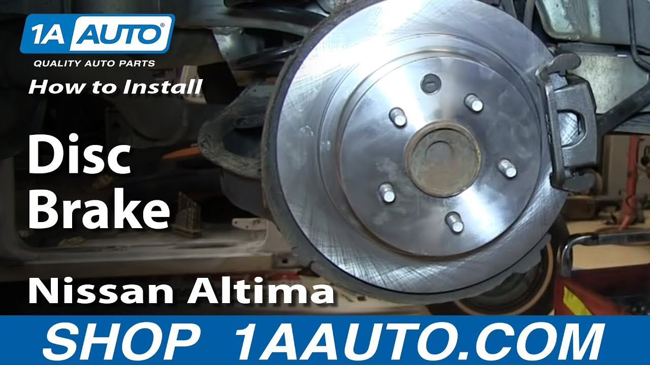 Nissan Altima Brake Pads >> How To Install Replace Do A Rear Disc Brake Job 2002-06 ...