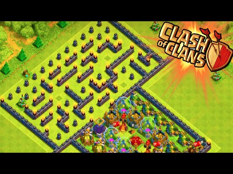 Coc epic th7 trolling base air sweeper clash of clans town hall 7