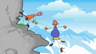 Funny animated 'Giving birth in the Mountains' Cartoon