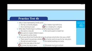 اجابات Work Book Practice test 4 B الثالث الثانوي