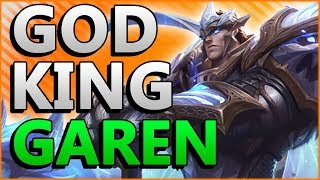 GOD KING GAREN IS AWESOME!! LOOK AT MY GOD CAT!! - League of Legends New Garen Skin