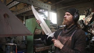 Forging a gigantic Bowie sword,  the complete movie.
