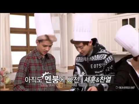 EXO SEHUN CUT / EXO's first box DVD 'SWEET BOX' 케이크만들기 세훈이 초코케이크 [ENG SUB]