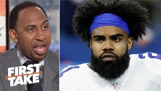 The Cowboys shouldn't give Ezekiell Elliott 'a damn thing for now' - Stephen A. | First Take