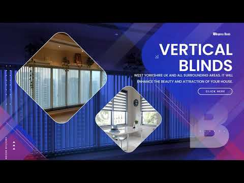 Get attractive vertical window blinds in the UK