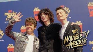 MTV Movie Awards Red Carpet With Finn & Gaten   Noah Schnapp