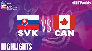 Slovakia vs. Canada - Game Highlights - #IIHFWorlds 2019