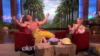 Clayton Cannon dancing for Ellie Kemper on Ellen