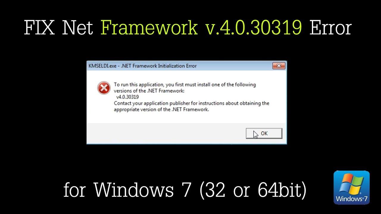 Net framework скачать v. 4. 0. 30319.