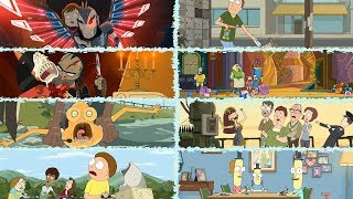 Rick and Morty Season 3 UNCENSORED - All After Credits Scenes