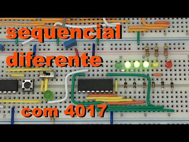 SEQUENCIAL DIFERENTE COM 4017 | Conheça Eletrônica! #052