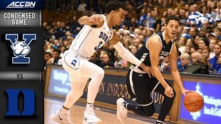 Yale vs. Duke Condensed Game | 2018-19 ACC Basketball
