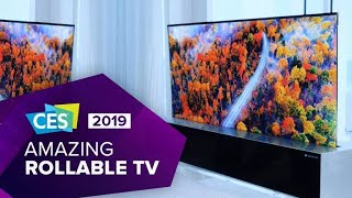 Watch LG's amazing rollable OLED TV in action at CES 2019