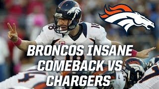 Denver Broncos Miraculous Comeback Against the Chargers in 2012!! || Throwback Highlights