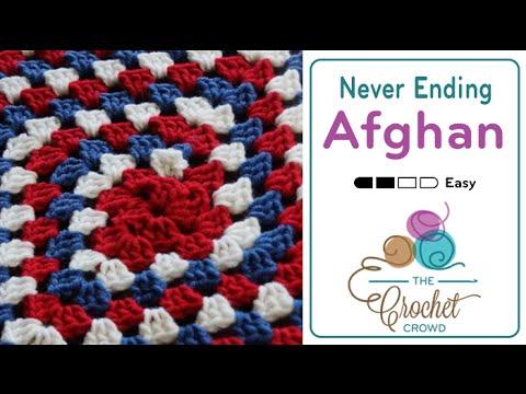 Fastest Crochet Afghan 3 Colors Never Ending Granny