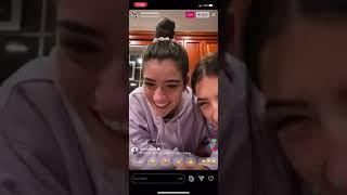 Dixie D'amelio Instagram Live 1/April/2020 with Charli D'amelio (FULL)