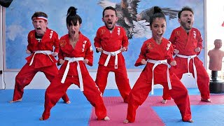 THE ART OF GROIN PULLING. TRYING MARTIAL ARTS!