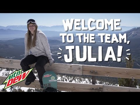 Mountain Dew is excited to welcome professional snowboarder Julia Marino to the DEW snowboard team.