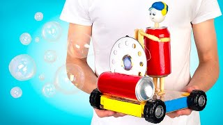 DIY Remote Control Car With A Bubble Machine!