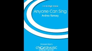 Anyone Can Sing - By Andrea Ramsey