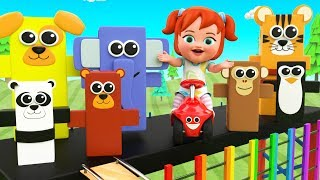 Animals Tumbling Toy Set | Little Baby Girl Fun Play Learning Colors for Children 3D Kids Education