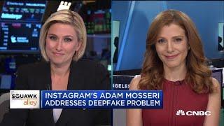 Instagram's Mosseri addresses deepfake videos in CBS interview