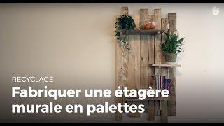 Fabriquer des meubles avec des palettes en bois recycl es - Fabriquer une bibliotheque murale ...
