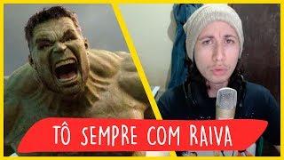 REACT Rap do Hulk - TÔ SEMPRE COM RAIVA   NERD HITS (7 Minutoz)