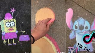 People Drawing With Chalk on TikTok for 8 Minutes Straight | ToasterStrudel
