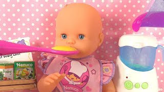 Nenuco Chef de Bébé Coffret Repas ● Baby Doll Kitchen Cooking Toys