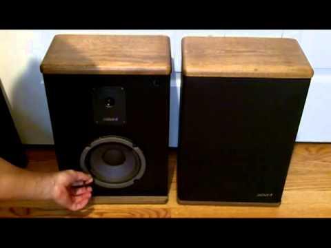 advent baby ii vintage stereo bookshelf speakers 2 way. Black Bedroom Furniture Sets. Home Design Ideas