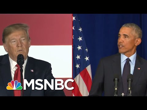 Split Screen Presidents: Barack Obama Comes Out Swinging As Donald Trump Digs In | Deadline | MSNBC