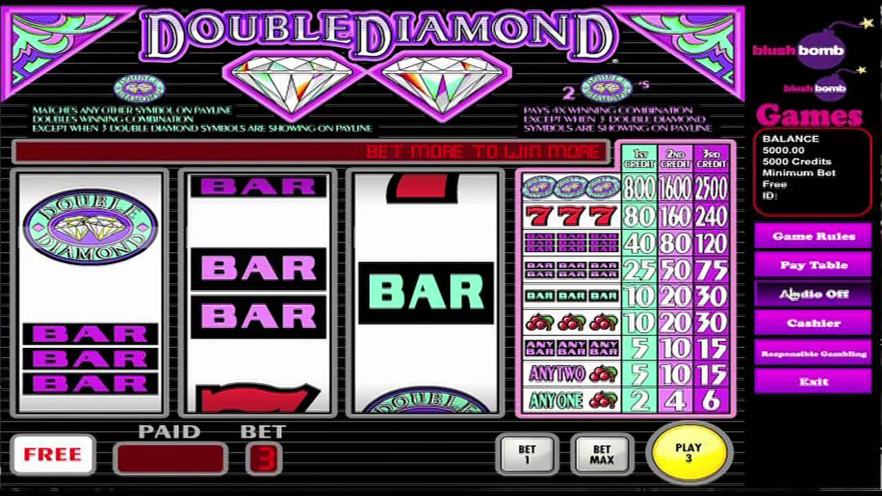 Free online slot machines double diamond
