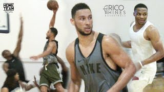 Ben Simmons at Rico Hines UCLA Run! Russell Westbrook, Marvin Bagley, Pascal Siakam