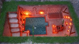 Build Most Awesome Living Room And Mini Underground Swimming Pool