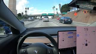 Tesla Autopilot in Heavy LA Traffic