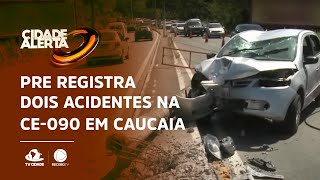 PRE registra dois acidentes na CE-090 em Caucaia