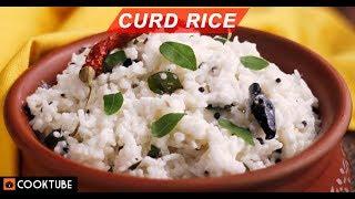 Curd Rice Recipe   South Indian Rice Recipe   Easy Homemade Dahi Chawal