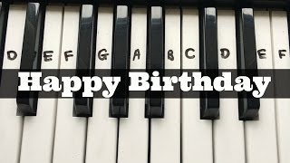 Happy Birthday   Easy Keyboard Tutorial With Notes (Right Hand)