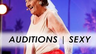 90y-old Dancer Strips to Golden Buzzer | America's Got Talent 2016 | Auditions | Episode 6