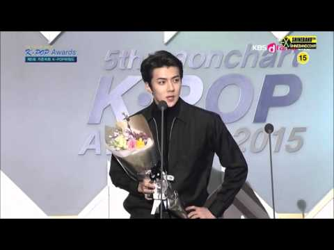 [1080p HD] 160217 EXO SEHUN Weibo Star Award @ The 5th Gaon Chart Awards (MC Yura & Leeteuk)
