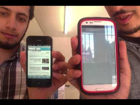 Iphone vs Galaxy s3 Speed Test