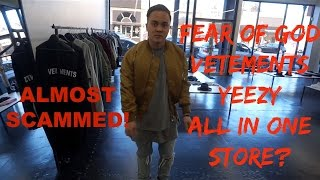 EXPOSED Fairfax store sells FAKE :Fear of God, Vetements, SUPREME, YEEZY, Off White, and FOG?